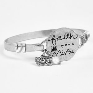🎁Great gift! Faith Can Move Mountains bracelet